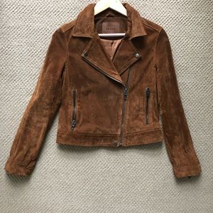 BLANK NYC brown suede genuine leather jacket